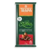 Trapa Czekolada gorzka 80% kakao stewia 75g