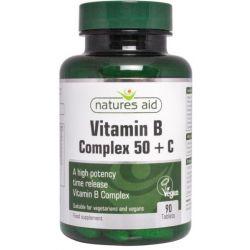 NATURES AID WITAMINA B COMPLEX + WIT.C 90TAB