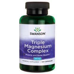 SWANSON TRIPLE MAGNESIUM COMPLEX 400MG/100 KAPS.