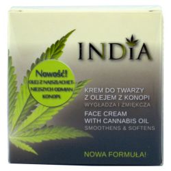 INDIA KREM DO TWARZY Z OLEJEM Z KONOPI 50ML