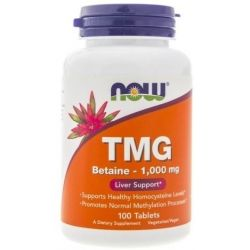 NOW TMG BETAINA 1000MG 100 TABLETEK
