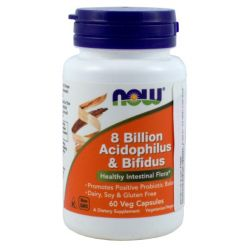 NOW FOODS 8 BILLION ACIDOPHILUS&BIFIDUS 60K