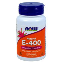NOW FOODS WITAMINA E-400 50 TABL.