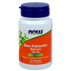 NOW FOODS SAW PALMETTO EXTRACT 160MG 60 ŻEL