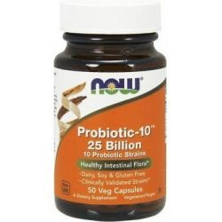 NOW FOODS PROBIOTIC 10, 25 BILION 50 KAP
