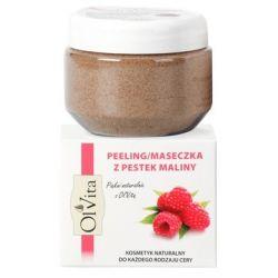 OLVITA PEELING/ MASECZKA Z PESTEK MALIN 100G