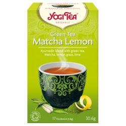 YOGI TEA HERBATA GREEN TEA MATCHA LEMON 17x1,8G