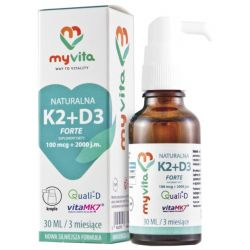 Myvita Witamina K2+D3 Naturalna Krople 30 Ml