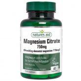 Natures Aid Cytrynian Magnezu 125Mg 60Tab