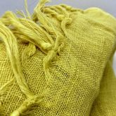 Deccares Szal Lniany Haldi Yellow