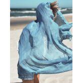 Deccares Szal Lniany Wood Blue
